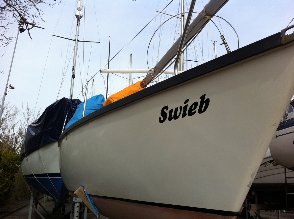 Swieb in de haven van Hoorn.