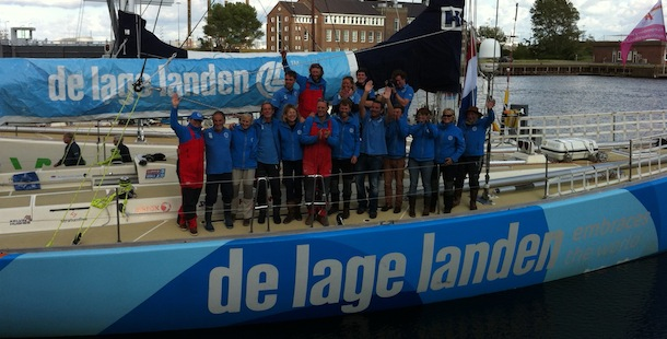 Aankomst Clipper Race in Den Helder