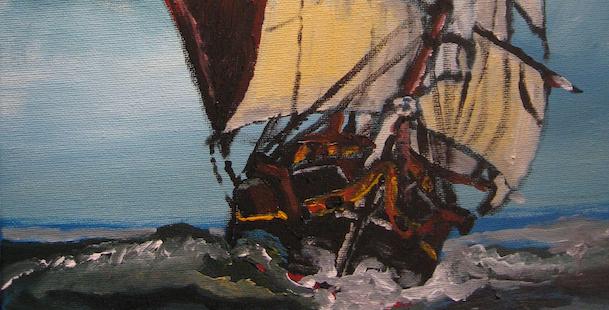 Kapitein Langelaan schildert