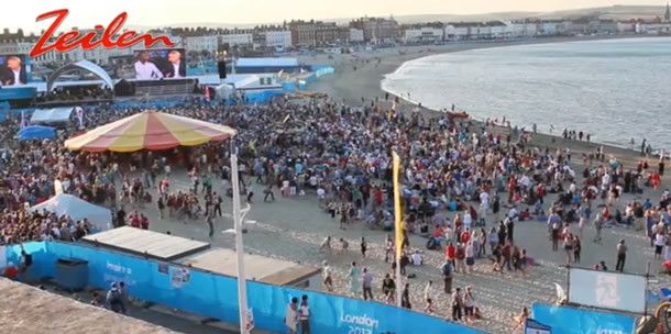 Video: opening olympisch zeiltoernooi Weymouth