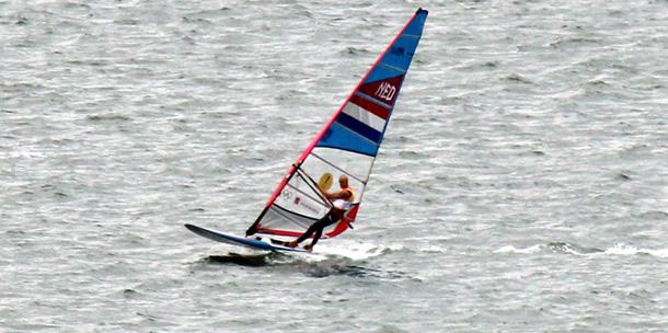 Foto's: derde race RS:X-klasse olympisch Weymouth