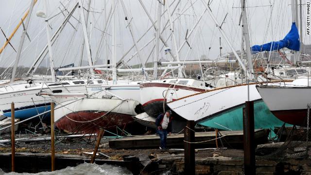 Orkaan Sandy treft meer dan 65.000 boten