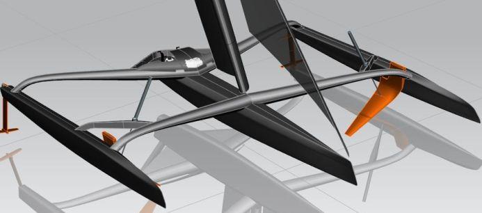Hydroptère bijna uitgevlogen