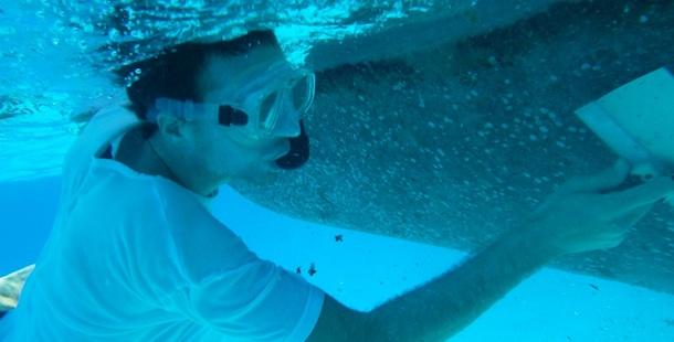 Willem onder water