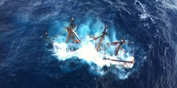 """""""HMS Bounty voer uit met rotte spanten"""""""