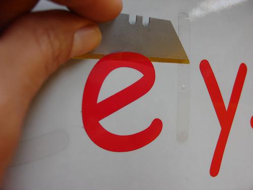 Tip Plakletters verwijderen
