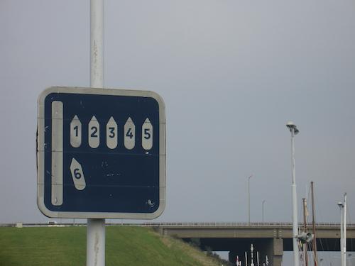 Verkeerstekens bij bruggen en sluizen