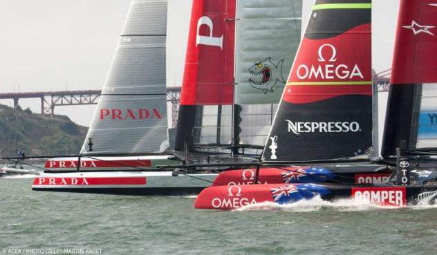 Ook 3e race Louis Vuitton Cup beslecht door pech