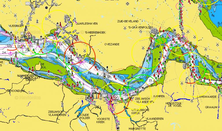 Onderzoek gebruik elektronische zeekaart Westerschelde