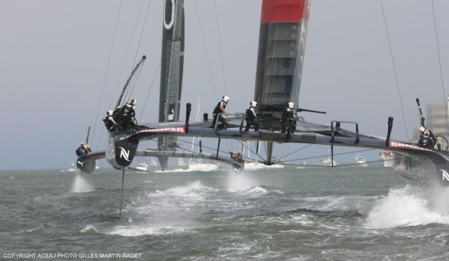 America's Cup: Oracle Team USA behaalt eerste overwinning
