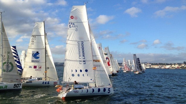 Mini Transat van start