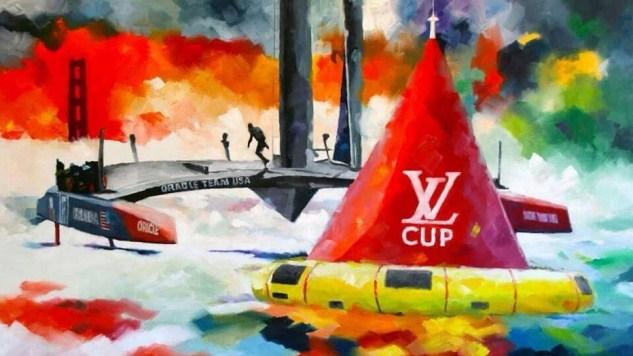 Kunstenaar geïnspireerd door America's Cup