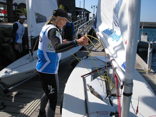 Marit Bouwmeester traint op Lanzarote