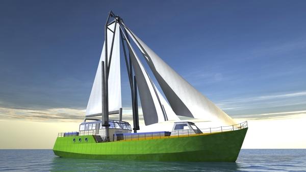 Nederlandse ingenieurs prijzen zeilend vrachtschip Greenheart