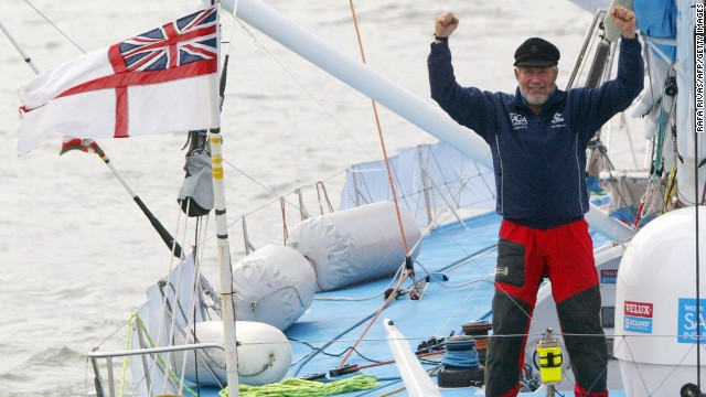 Sir Robin Knox-Johnston (75) start in Route du Rhum