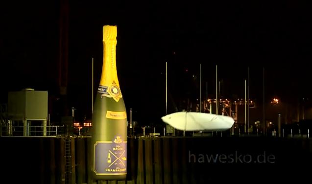 Champagnedoop loopt anders af dan gedacht