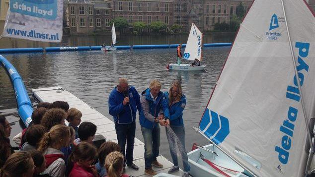 Optimist on Tour in de Hofvijver in Den Haag