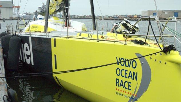 Stefan Coppers onboard reporter van Team Brunel
