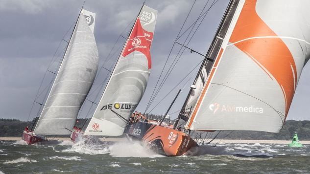 VO 65's onderweg in Round Britain & Ireland Race