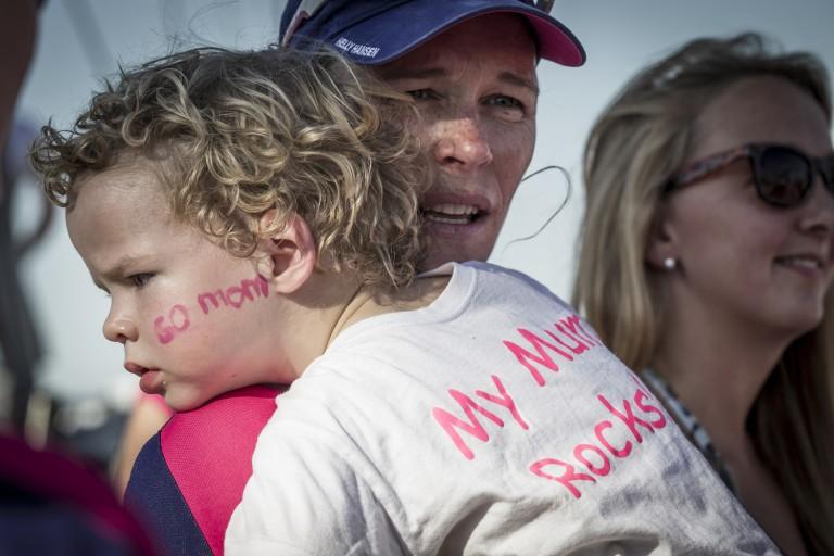 Carolijn Brouwer en haar kleine Kyle