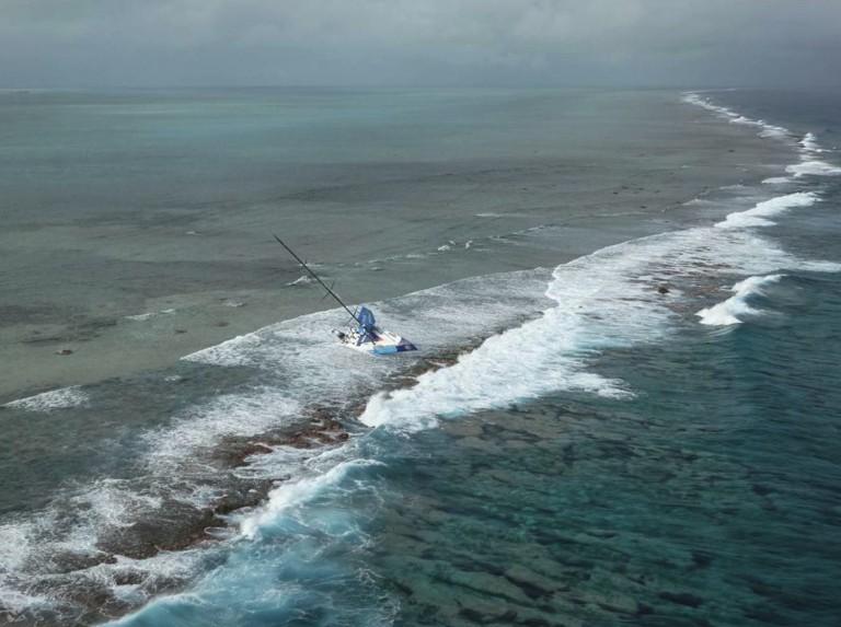 Team Vestas veilig gestrand op eiland