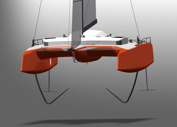 Nederlandse draagvleugelcat Gunboat G4 vliegt uit