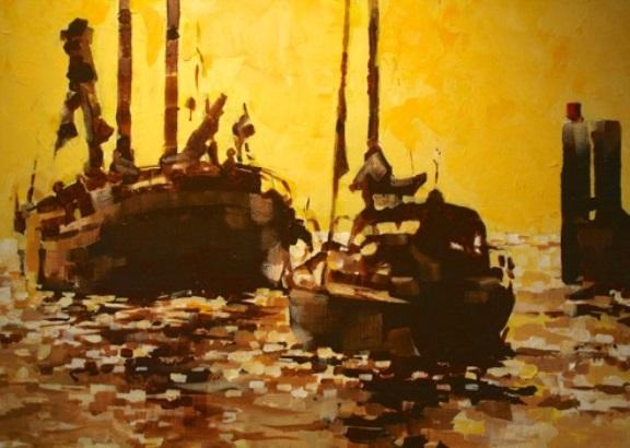 Expositie in Medemblik brengt watersport en kunst samen