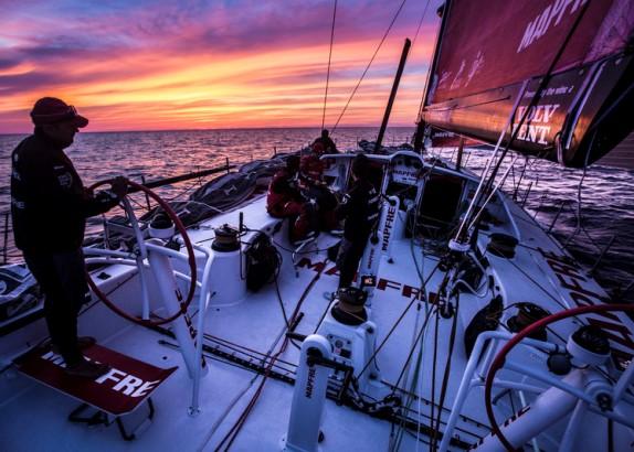 Aankomst Volvo Ocean Race-vloot in Newport