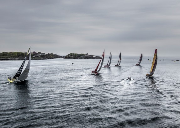 Start 7e etappe Volvo Ocean Race (video)