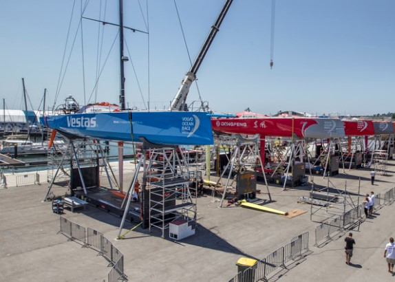 Team Vestas Wind in Lissabon
