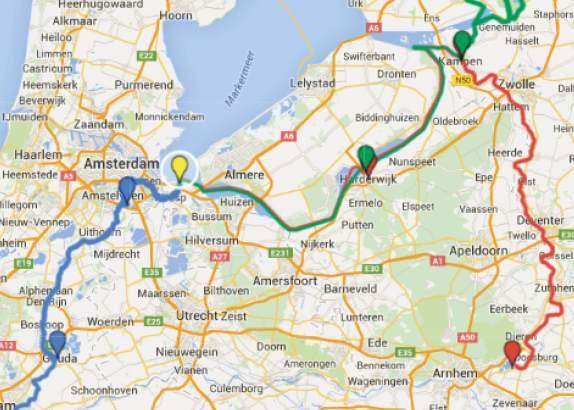Aanlooptochten SAIL-In Amsterdam