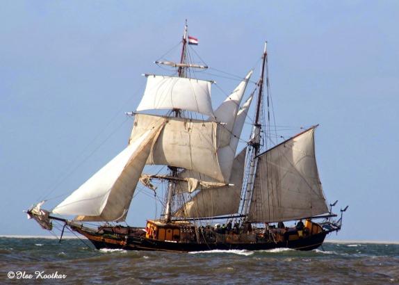 Welkomstfeest voor zeilend vrachtschipTres Hombres