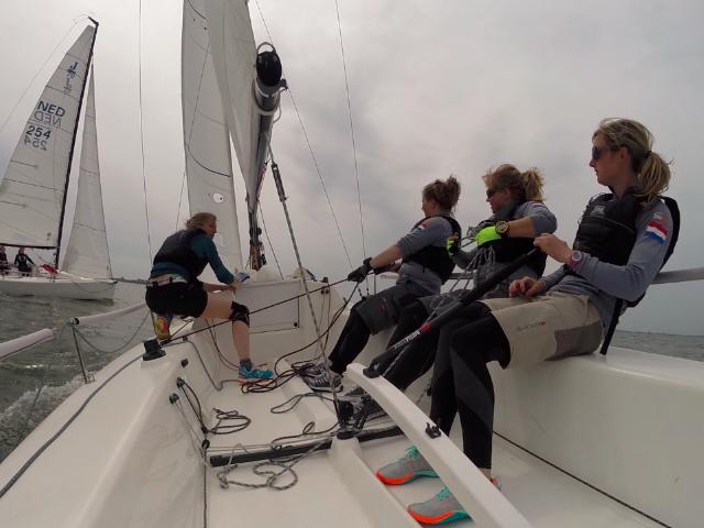 Nederlandse vrouwenteams trainen samen voor Womens Match Racing