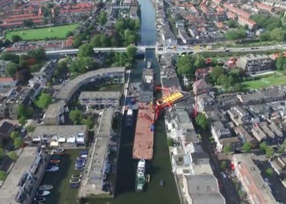 Staande Mastroute gestremd door ongeluk Alphen a/d Rijn