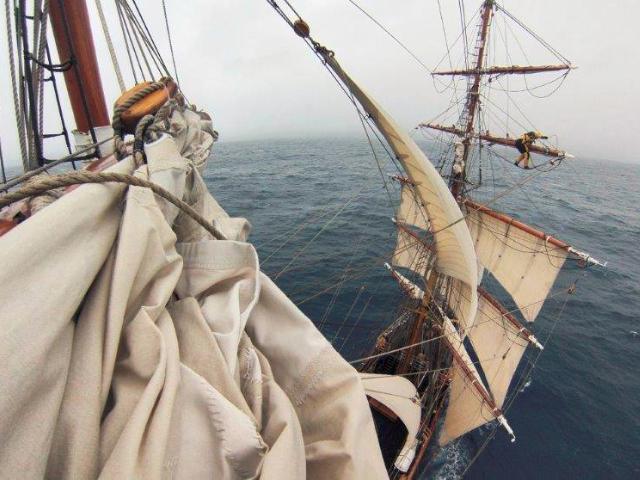 Bark EUROPA klaar voor historische zeiltocht