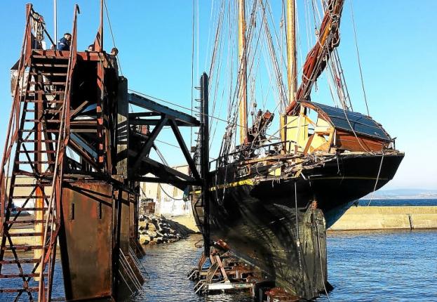 Zeilschip Nordlys aangevaren door Frans vissersschip