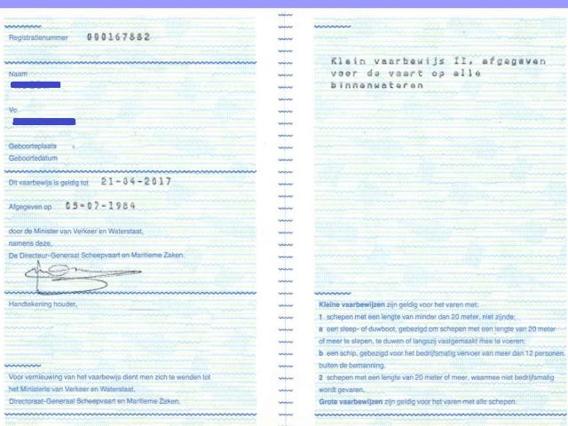 Papieren vaarbewijs vanaf januari in de prullenbak