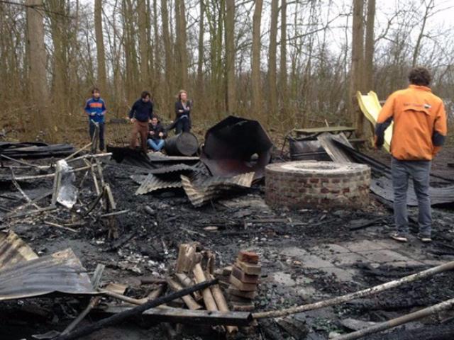 Zeilboten Brielse Zeilschool verbrand