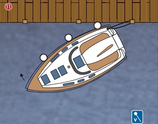 Solo de boot aanmeren