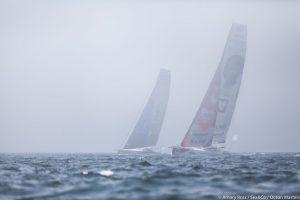 IMOCA's in de mist NY-Vendée