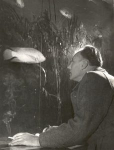 Jacob Haalmeyer in het aquarium