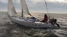 Bekijk de Singlehanded vanaf de boot van Eli van den Broek