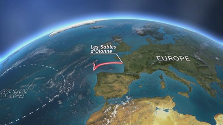 De route van de Vendée Globe