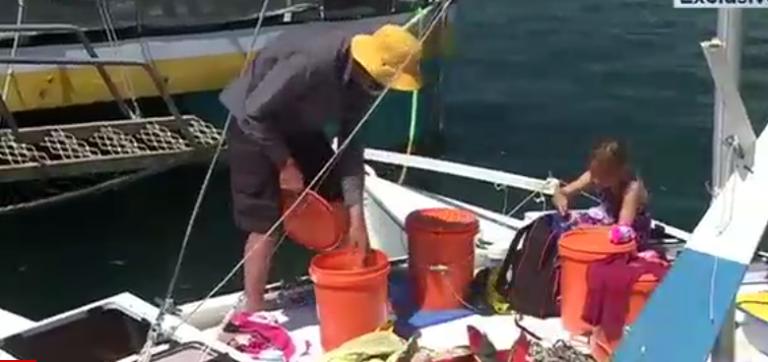 Vader en dochter na een maand op zee teruggevonden
