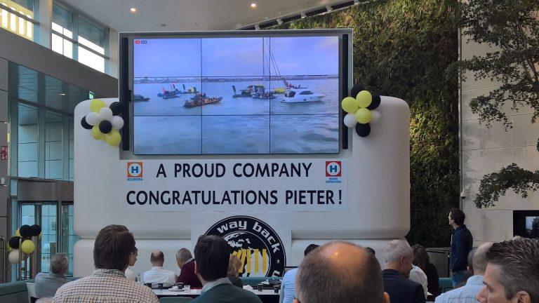 Kantoor Heerema kijkt live mee naar de Sail In