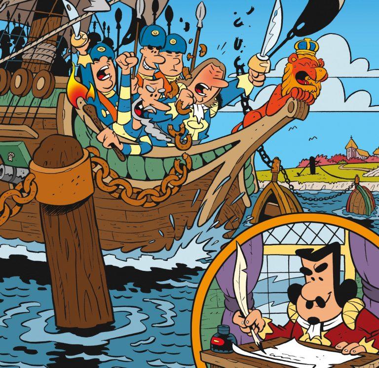 Stripboek over Michiel de Ruyters tocht naar Chatham