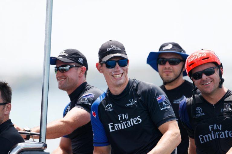 Carlo Huisman blij in Team Brunel