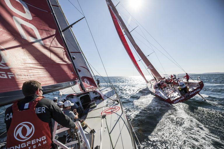 Volvo Ocean Race: Testen met de concurrentie