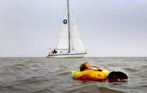 Man overboord: de fok vist je uit het water