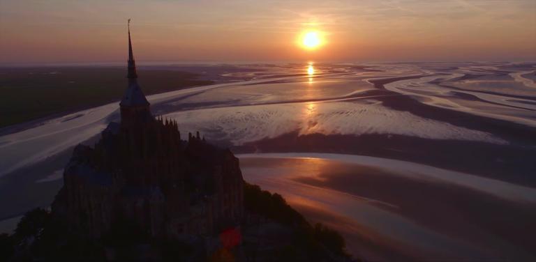 Mont St Michel van boven